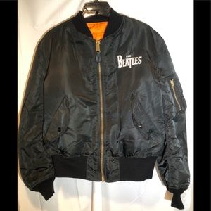 "Vtg. Alpha Industries ""The Beatles"" Satin Jacket"